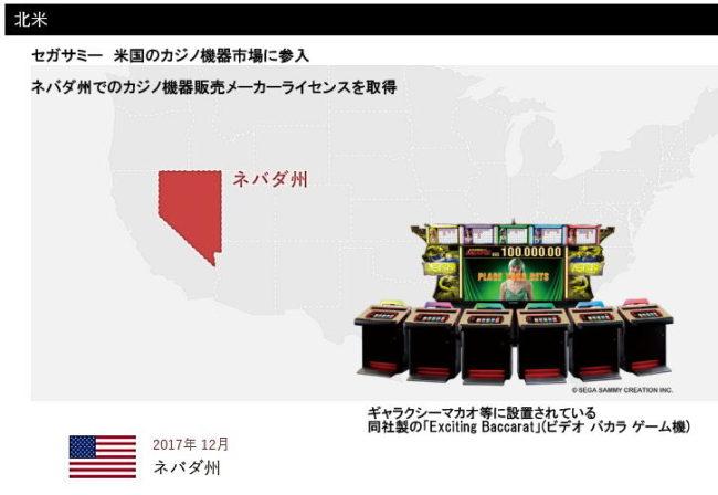 セガサミー、米国のカジノ機器市場に参入